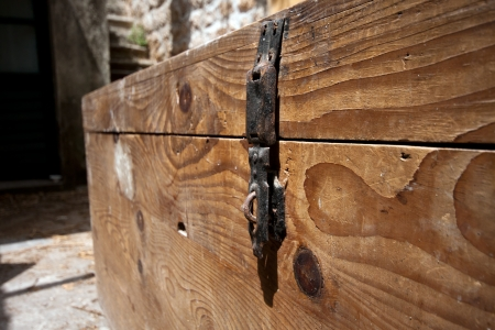 Old wooden chest photo