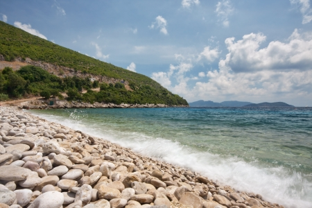 na: Pebble beach on Adriatic coast, Croatia Stock Photo