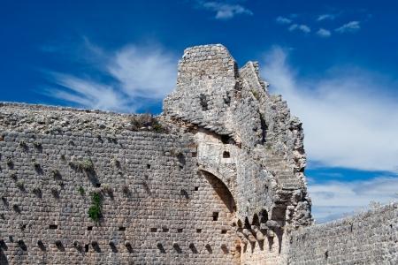 Ruins of castle, Peljesac Croatia, Europe Stock Photo