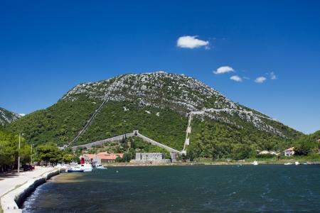 Ston, small town near Dubrovnik, Croatia Stock Photo