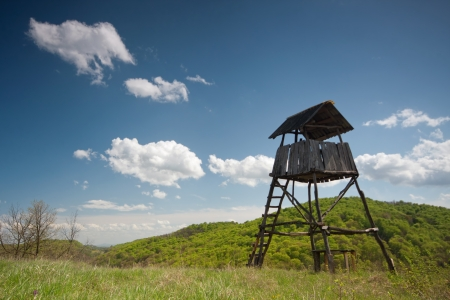 Hunting tower near the forest