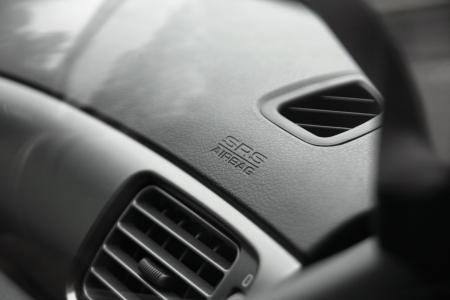 srs airbag caption on car dashboard photo