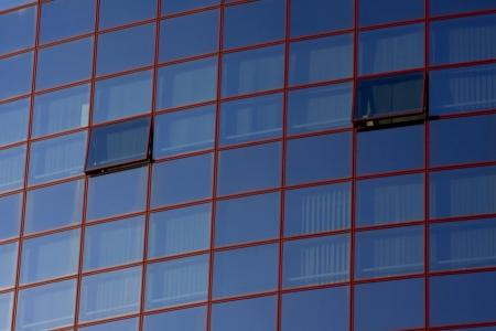 Window of usiness building