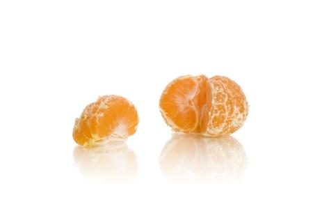 fresh tangerine isolated on white background Standard-Bild