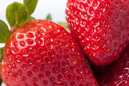 Strawberry macro Stock Photo