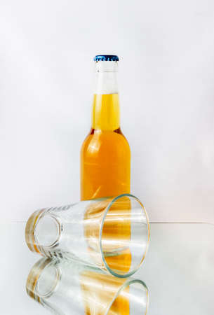 Elegant glass isolated on a white background
