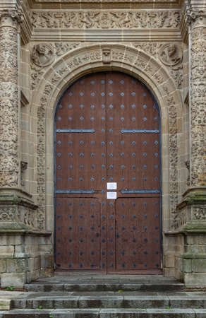 Gate of Cathedral of Plasencia. Extremadura, Spain