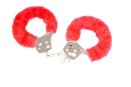 fettered: handcuffs with plush
