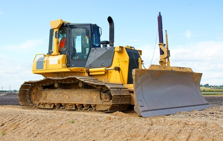 construction vehicle: bulldozer