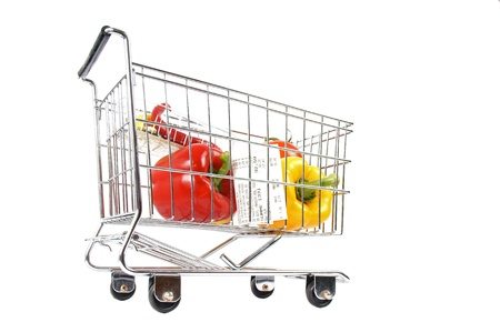 consumerist: shopping cart with vegetables