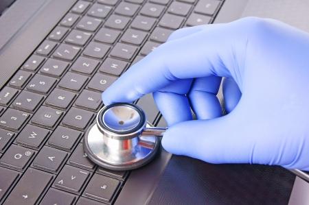 virus informatico: Detector de virus Foto de archivo