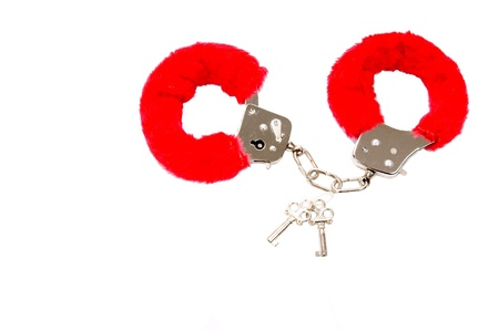 fettered: handcuffs