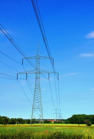 energy suppliers: power pole Stock Photo