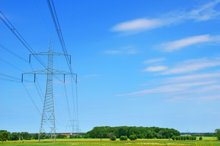 power suppliers: power pole Stock Photo