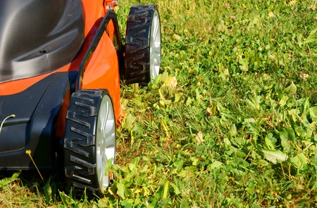 lawn mower Stock Photo - 10535290
