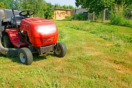 lawn tractor Stock Photo - 10535298