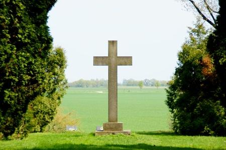 cemetery: stone cross Stock Photo