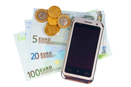 cell phone and money Stock Photo - 10633047