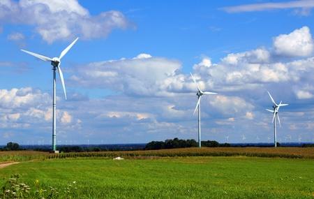 alternative energy source: windmill Stock Photo