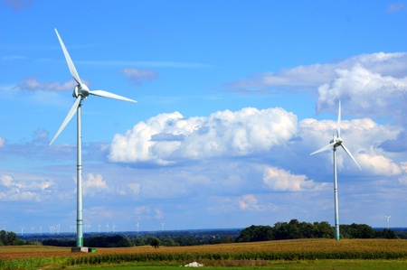 co2 neutral: windmill Stock Photo