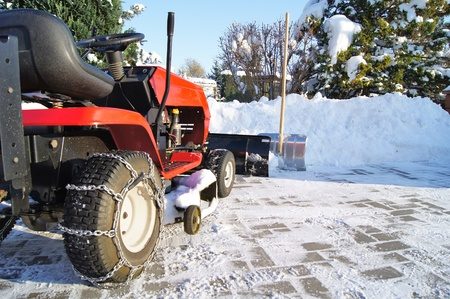 winter tractor service Stock Photo - 10658539