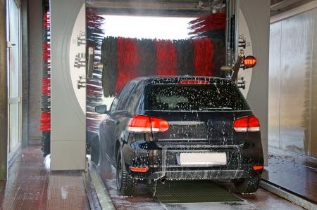 autolavado: lavado de autos Foto de archivo
