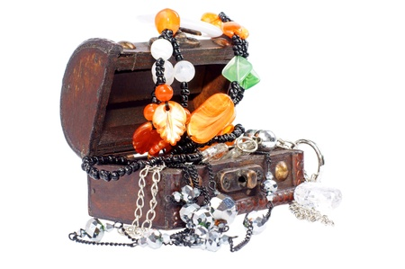 Treasure Chest with jewelry photo
