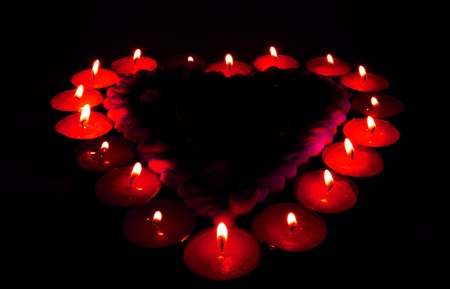 gingerbread heart with candles Stock Photo - 11916116
