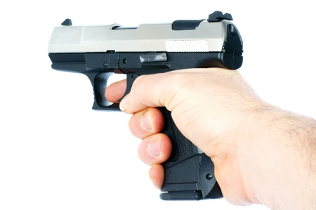 Hand with a Gun Stock Photo