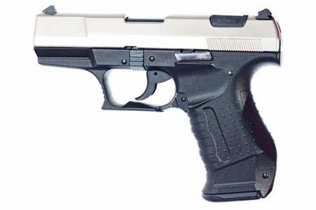 argumentative: Gun over a white Background Stock Photo