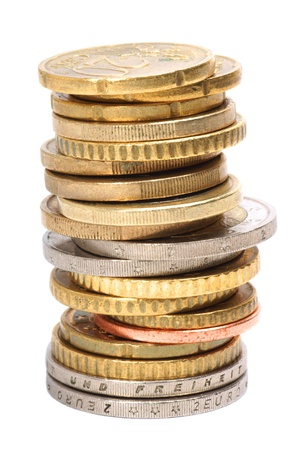 coin stack: Stack of Euro Coins