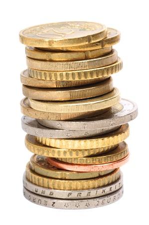 Stapel Euromunten