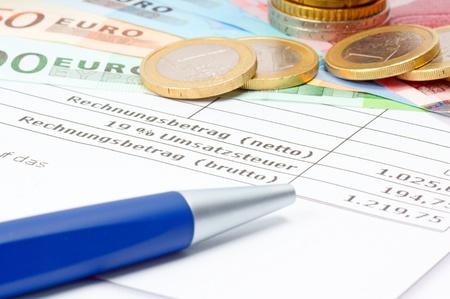 Money and Bill Stock Photo
