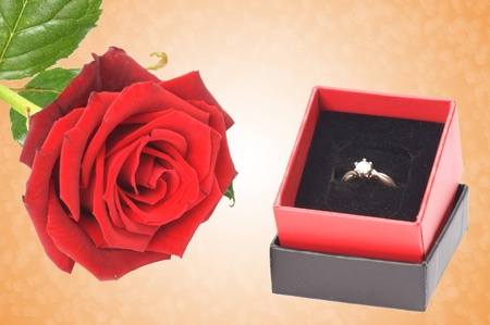 red Rose with finger ring photo