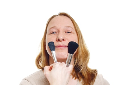 Young woman with make-up photo