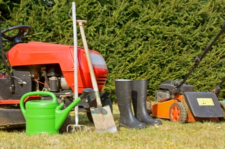 Garden tools and lawn mower