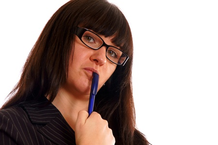 Business Lady with a pen Stock Photo - 12960531