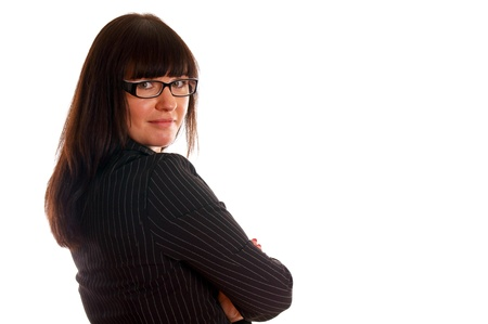 Portrait of a confident young business lady photo