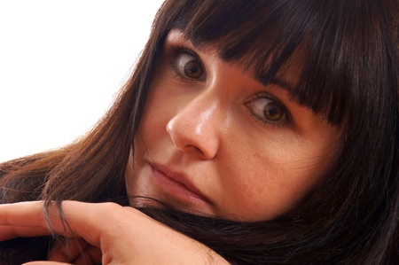 Portrait of a young brunette woman  Stock Photo - 12960827