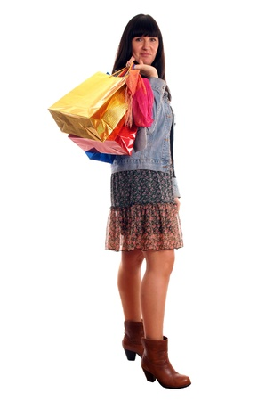 Attractive young girl with shopping bags Stock Photo - 12965554