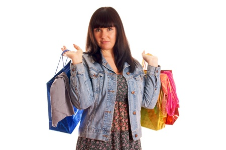 Attractive young girl with shopping bags Stock Photo - 12965672