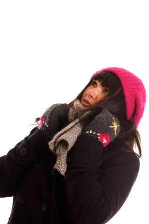 Portrait of a young woman in winter clothes Stock Photo - 12965589