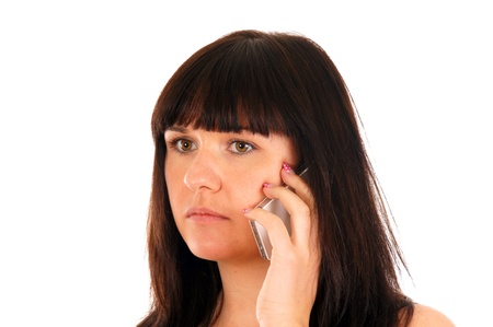 gaily: woman with a mobile phone