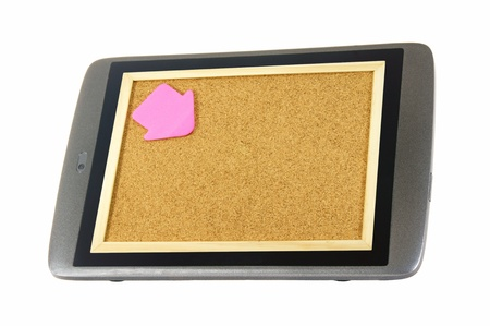 Tablet Pc and notice board Stock Photo - 13368315