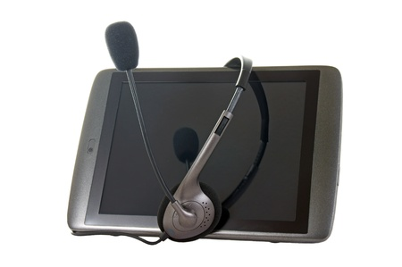 Tablet Pc and headphone Stock Photo - 13368308