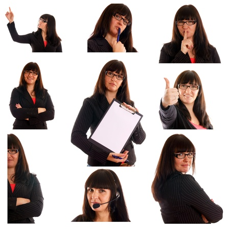 Business woman Collage photo