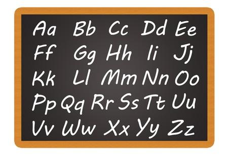 Chalkboard - Alphabet Stock Photo - 13719021