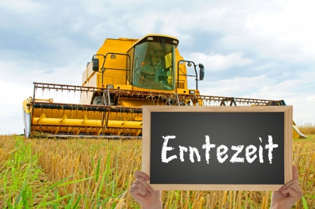 agricultural engineering: harvest time Stock Photo
