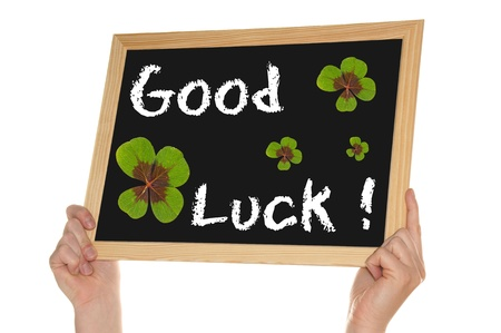 blackboard - good luck Stock Photo - 13786409