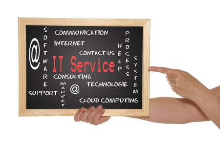blackboard with text IT Service Stock Photo - 13786410